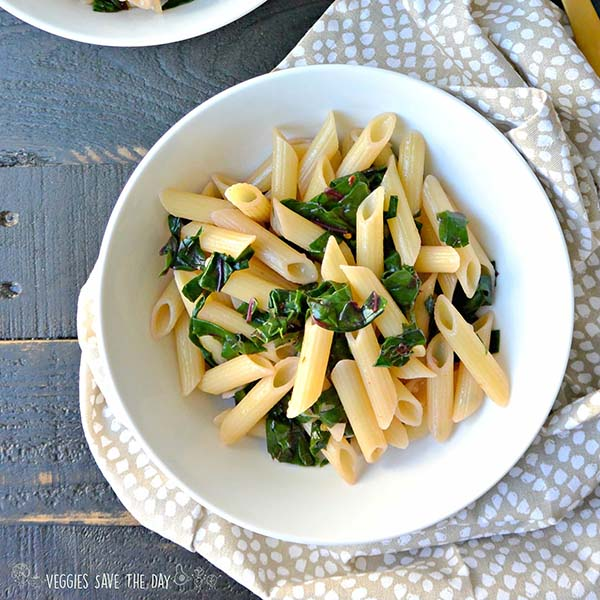 Pasta with Chard from Veggies Save the Day