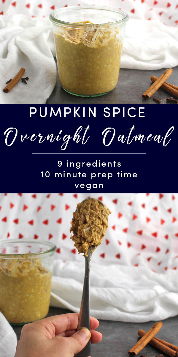 Why fight it? Embrace the pumpkin spice in this rich, healthy overnight oatmeal recipe with the power of real pumpkin!