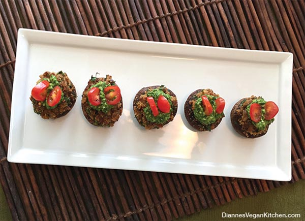 Vegan Stuffed Mushrooms from Dianne's Vegan Kitchen