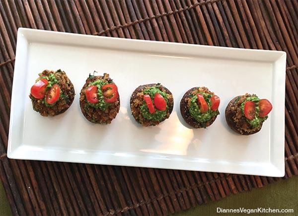 Vegan Stuffed Mushrooms from Dianne's Vegan Kitchen