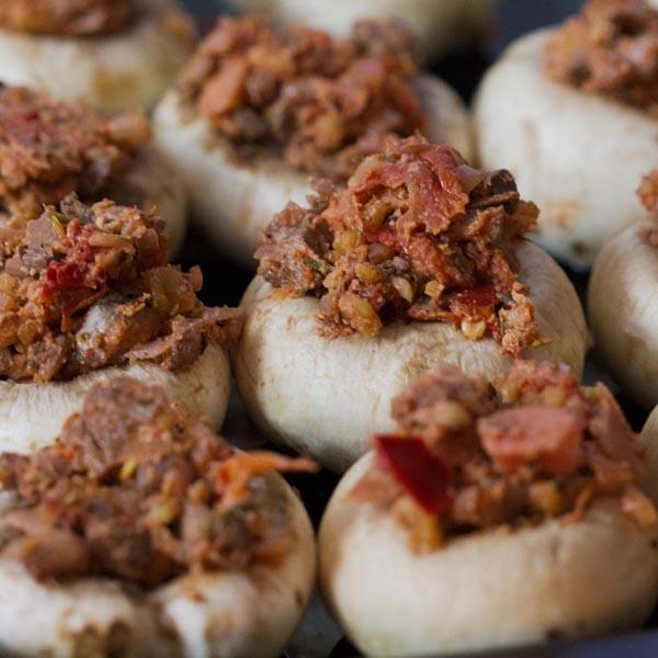Walnut Stuffed Mushrooms from Ceara's Kitchen