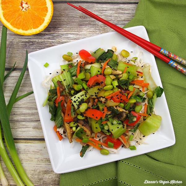 Baby Bok Choy Stir Fry from Dianne's Vegan Kitchen