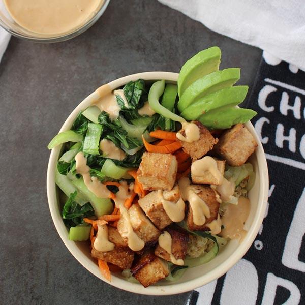 Tofu and Baby Bok Choy Buddha Bowl from Glue & Glitter