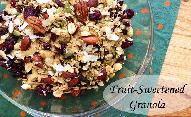 Fruit-Sweetened Granola