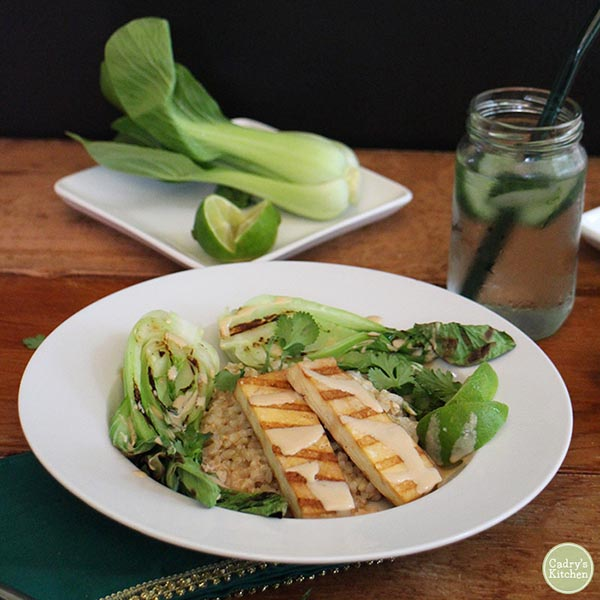 Grilled Baby Bok Choy from Cadry's Kitchen