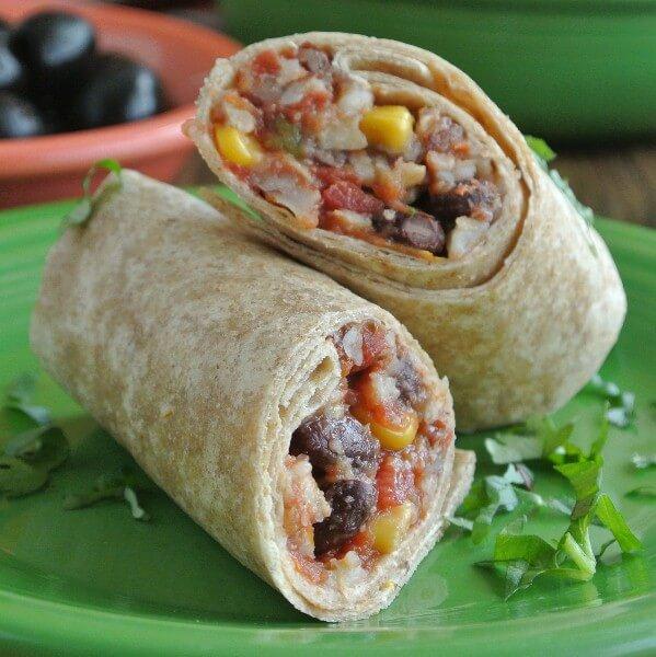 Slow Cooker Burritos from Vegan in the Freezer