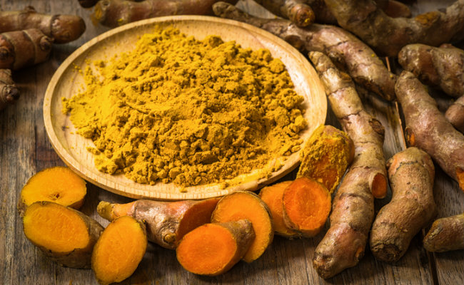 Turmeric, like ginger, helps control blood sugar.