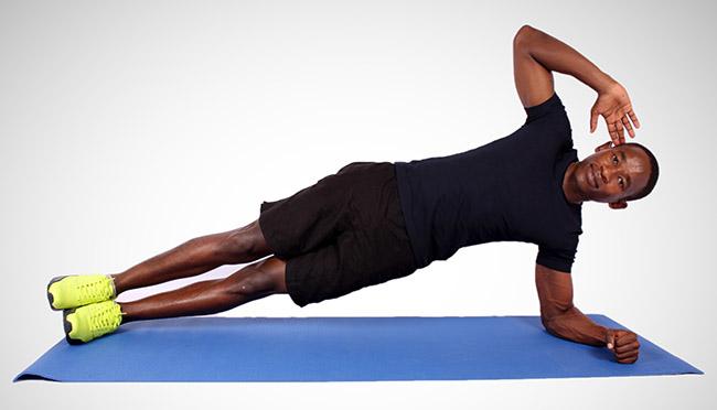 side plank man