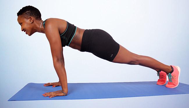 straight arm plank