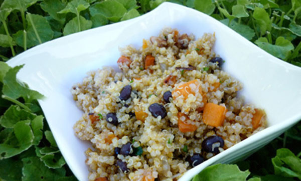 Butternut Squash Quinoa with Black Beans