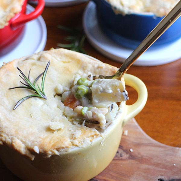 Chickpea Pot Pie from Cadry's Kitchen