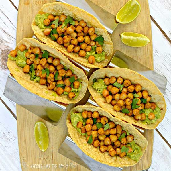 Chickpea Tacos from Veggies Save the Day