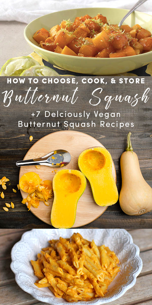 Learn how to choose, store and cook butternut squash! Get a basic roasted butternut squash recipe, plus a solid list of other delicious ways to prepare this fall favorite.