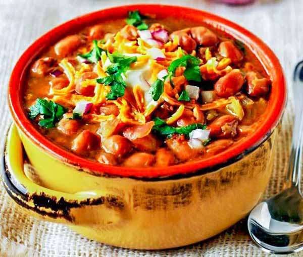 Pinto Bean Chili from Healthier Steps