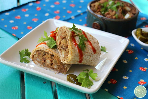 Refried Bean Burritos from Cadry's Kitchen