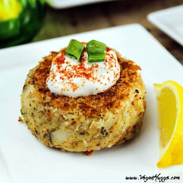 Vegan Crab Cakes from Vegan Huggs