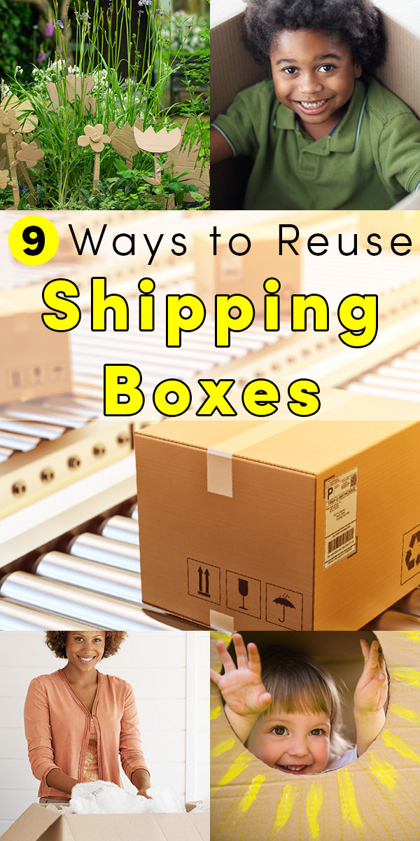 From kid crafts to more grown-up ideas, there are lots of ways to reuse shipping boxes around your home and even in your garden. In fact, let's start with a great garden use!