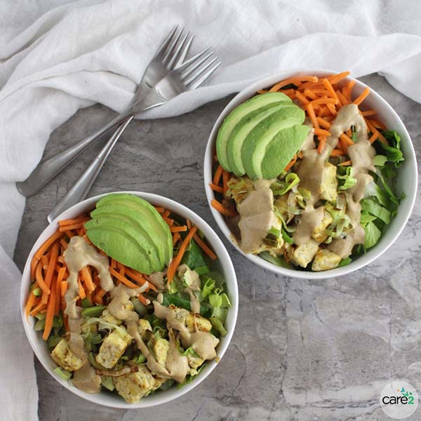 This quick and easy Warm Tempeh Salad is a perfect light meal on a chilly evening.