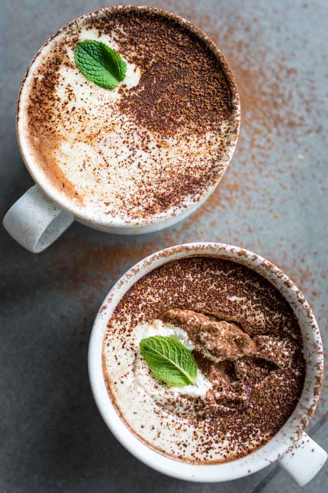 Peppermint Hot Chocolate from Lauren Caris Cooks - Care2