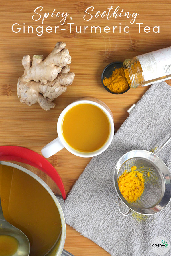 Whether you're fighting a cold or just feeling chilly, spicy-yet-soothing Ginger-Turmeric Tea is just what the doctor ordered!
