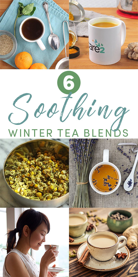 There's nothing as soothing as that first sip of hot tea on a cold day. You can feel the heat and herbs warming and relaxing your body from the inside out. Try these soothing tea recipes to keep you warm during this extra chilly winter.