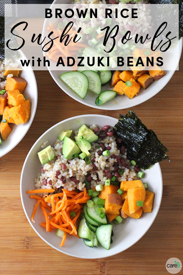 Adzuki beans don't get the love they deserve. In this vegan sushi bowl recipe, they bring the protein to the table.