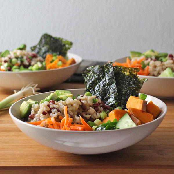 Vegan Sushi Bowls with Adzuki Beans
