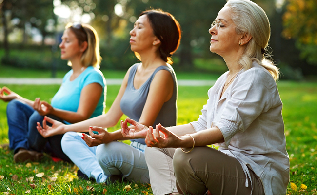 Meditation has anti-aging effects.