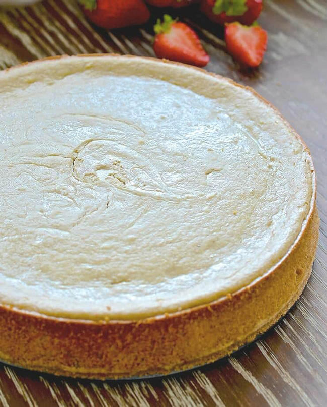 Vegan New York Style Cheesecake from A Virtual Vegan