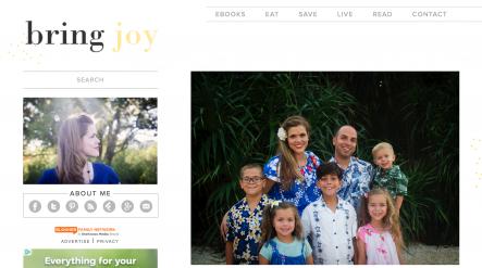 bring joy homepage