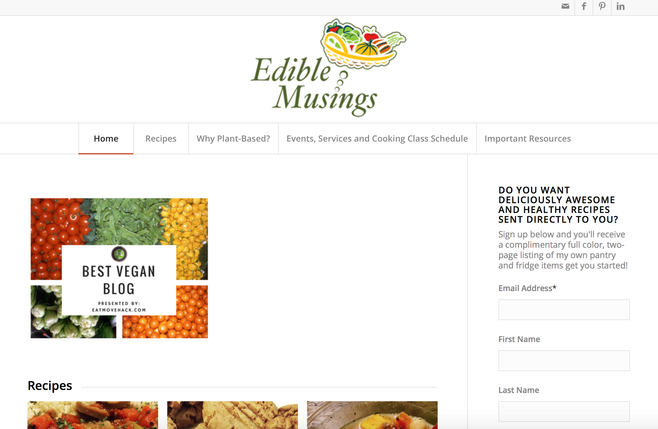 10 vegan food blogs you should bookmark right now care2 healthy living edible musings homepage edible musings vegan food blog forumfinder Gallery