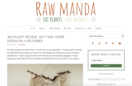 raw manda homepage