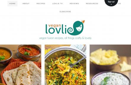 vegan lovlie homepage