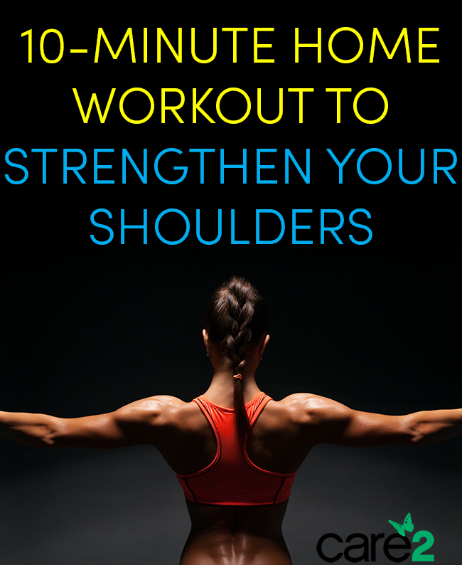 10 Minute Shoulder Workout No Weights Needed