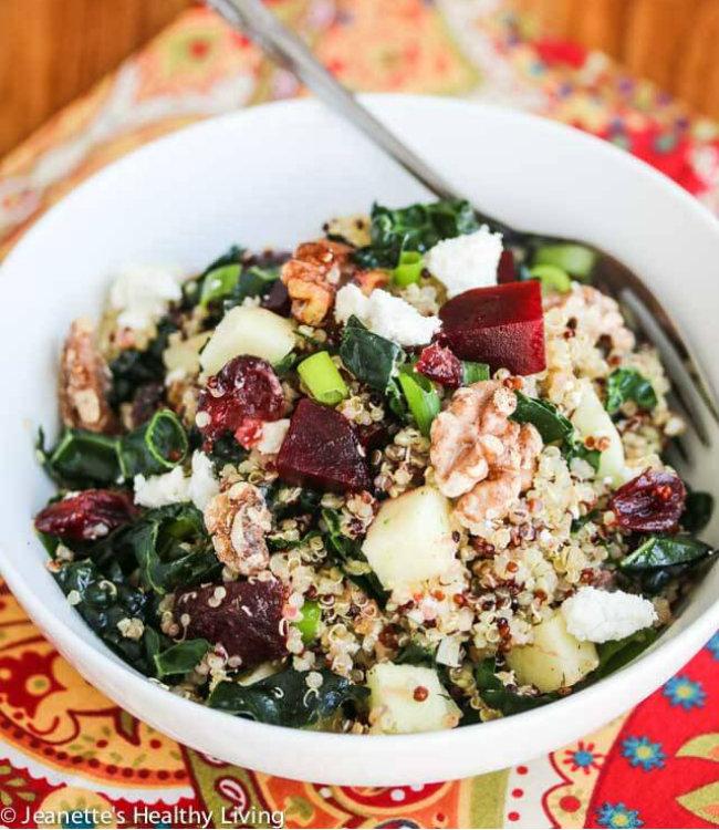 Quinoa-Beet-Kale-Apple-Walnut-Goat-Cheese-Salad-4