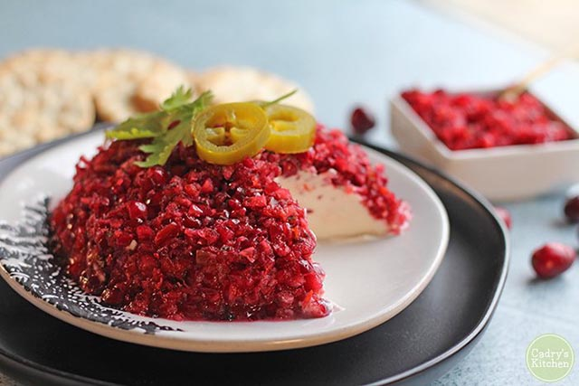 Cranberry Salsa with Cream Cheese from Cadry's Kitchen