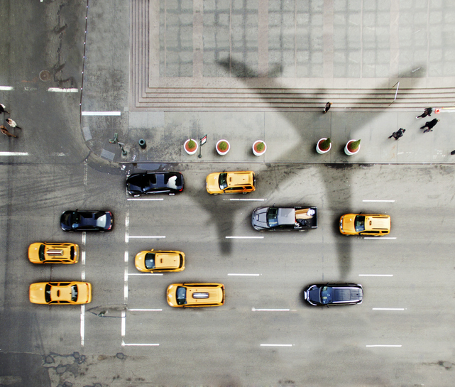 Airplane over New York City