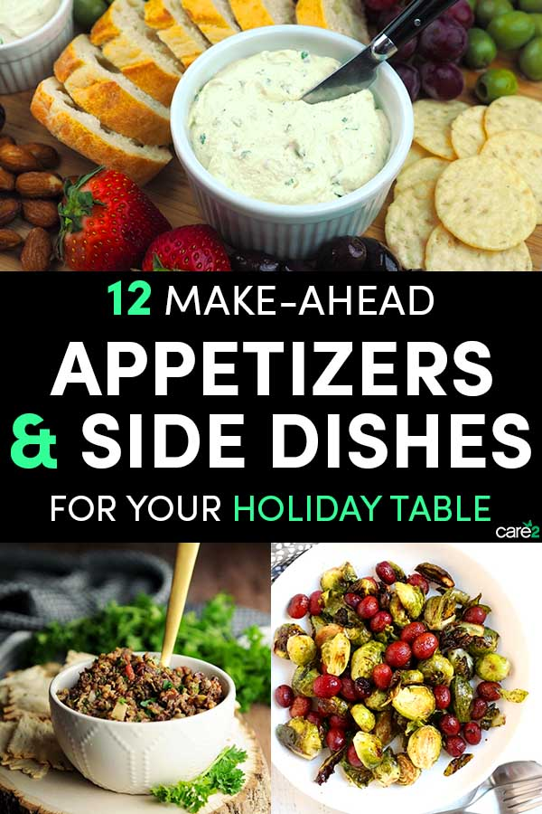 Do you love throwing holiday parties but not love spending the whole time standing over the stove? Make-ahead appetizers and side dishes to the rescue!