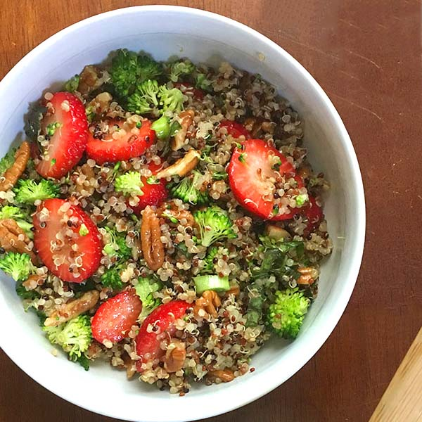 Quinoa Salad with Strawberries