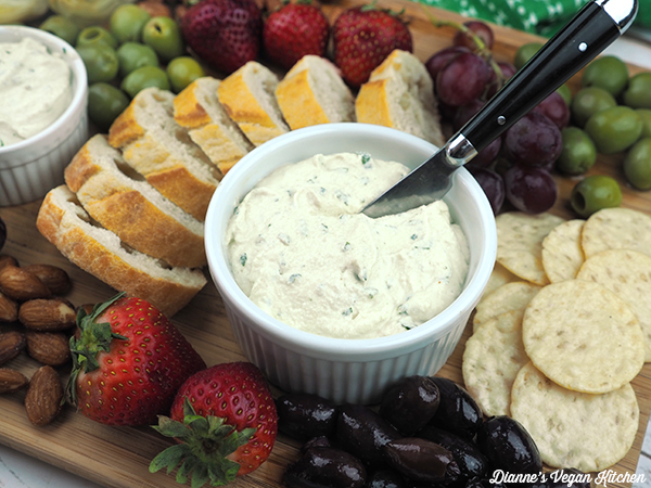 Tangy Herbed Vegan Cheese Spread from Dianne's Vegan Kitchen