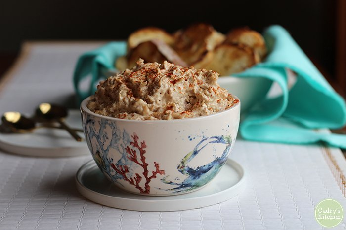 Vegan Crab Dip (photo from Cadry's Kitchen)