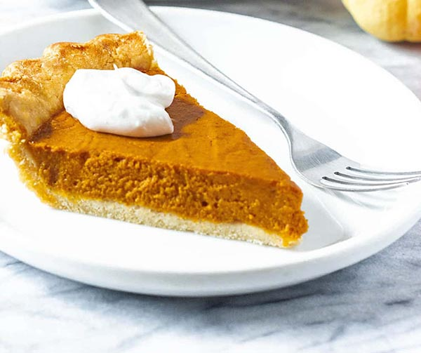 Vegan Pumpkin Pie from Healthier Steps