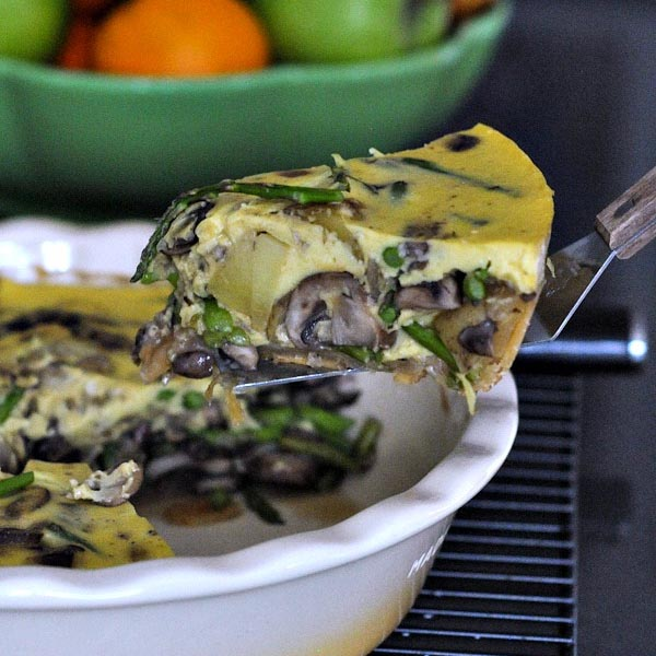Vegan Shiitake Shallot Quiche from Spabettie