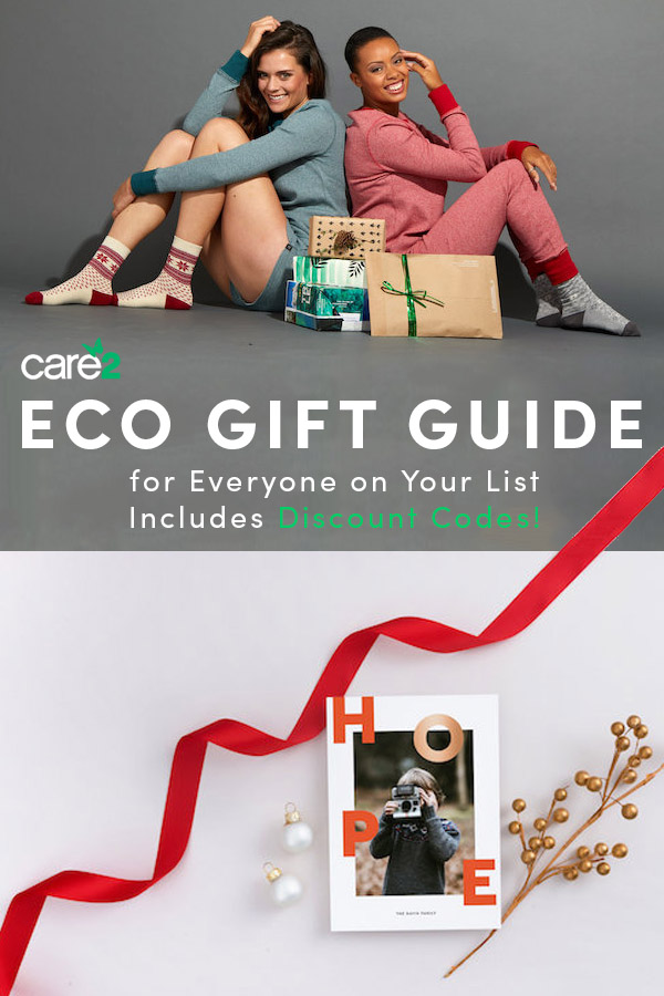 An eco-friendly gift guide -- with coupon codes!