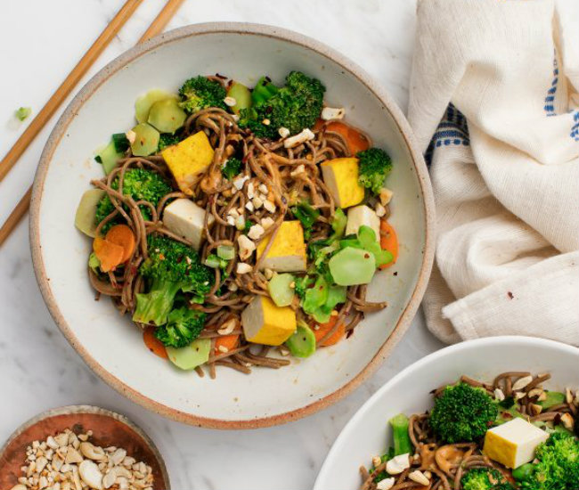 Cashew Broccoli Soba Noodles