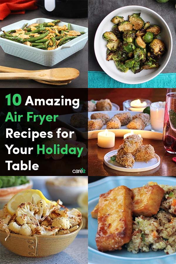 You might not immediately think of your air fryer when you're planning your holiday menu, but it's actually very handy for freeing up oven space and saving you some cooking time. These plant-based air fryer recipes are deliciously easy and perfect for the holiday table.
