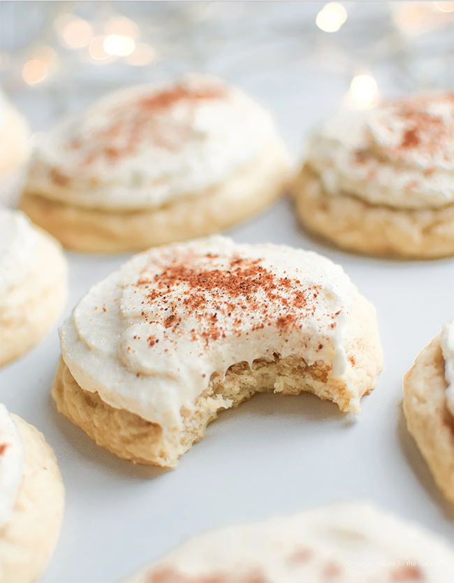 Vegan Eggnog Iced Sugar Cookies from Vegan Guide to the Galaxy - Care2