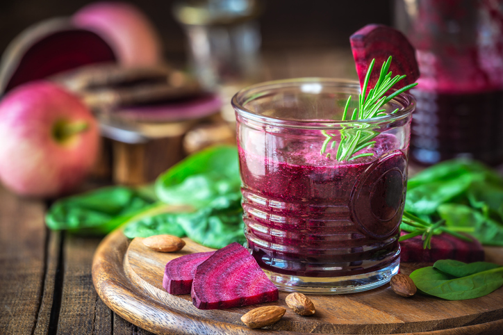 Red beetroot smoothie