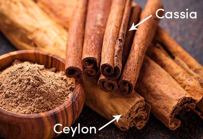 Ceylon cinnamon vs cassia
