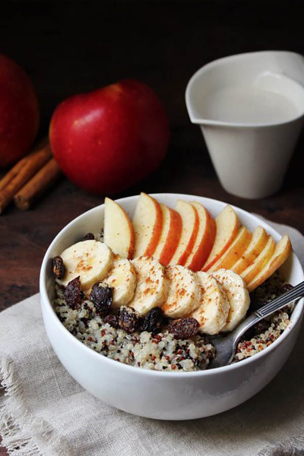 Breakfast Quinoa Apple Bowl